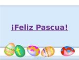 Feliz Pascua easter time Spanish classroom
