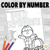 Spanish Color by Number Feliz Septiembre