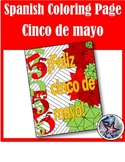 Feliz cinco de mayo - Spanish adult coloring page 2