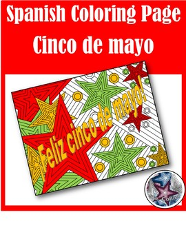Feliz cinco de mayo - Spanish adult coloring page