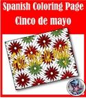 Feliz cinco de mayo - Spanish adult coloring page