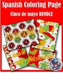 Feliz cinco de mayo - Spanish adult coloring page BUNDLE