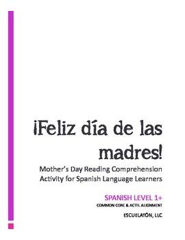 Feliz dia de las madres (Spanish Mother's Day) Reading Com