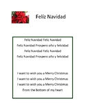 Feliz navidad song lyrics for class