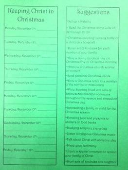 Fellowship of Christian Athletes Advent Calendar