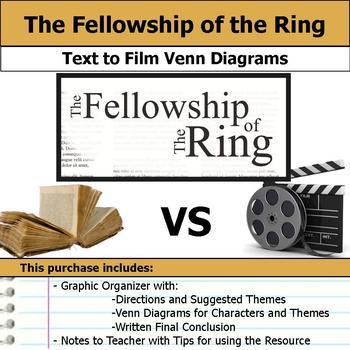 Fellowship of the Ring - Text to Film Venn Diagram & Writt