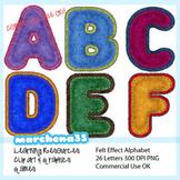 Felt Alphabet Clip Art - Clipart OK for Commercial Use