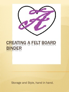 Felt Board Binder Instructions for an easy DIY project