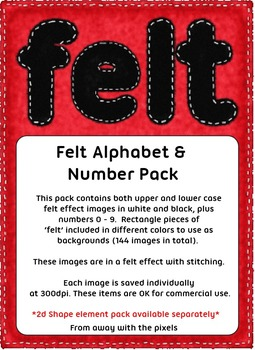 Felt Effect Alphabet and Numbers, Upper and Lower Case - Clip Art For Teachers