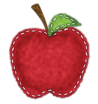 Felt Effect Apple and Tree Clip Art Set - Make Your Own Scenes