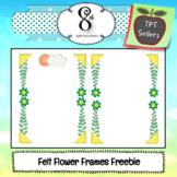 Felt Flower Frames Freebie