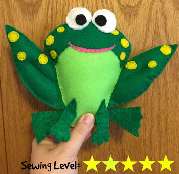 Frog Felt Hand Sewing Pattern
