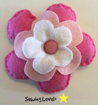 Flower Felt Hand Sewing Pattern