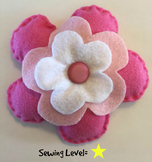 Flower Felt Hand Sewing Pattern