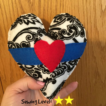 Heart Felt Hand Sewing Pattern