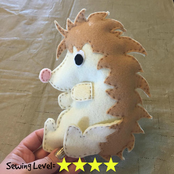 Hedgehog Felt Hand Sewing Pattern