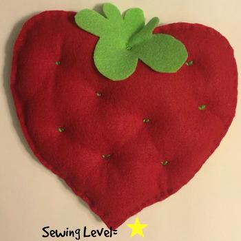 Strawberry Felt Hand Sewing Pattern