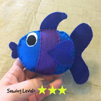 Fish Felt Hand Sewing Pattern
