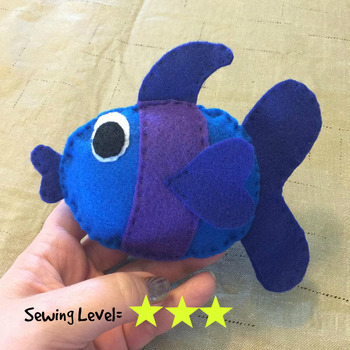 Fish Felt Hand Sewing Pattern