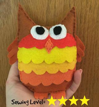 Owl Felt Hand Sewing Pattern