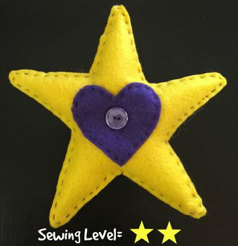 Star Felt Hand Sewing Pattern
