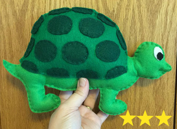 Turtle Felt Hand Sewing Pattern