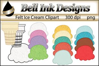 Felt Ice Cream Clipart
