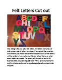 Felt Letters in the mail