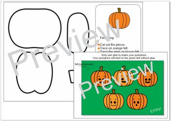 Felt activity_Five little pumpkins