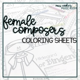 Female Composers Coloring Sheets