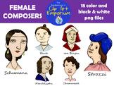 Female Composers - Schmillustrator's Clip Art Emporium