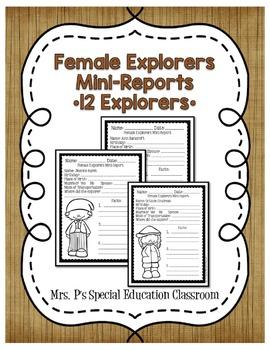 Female Explorers Mini Reports
