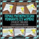 Female Mathematician Pennants