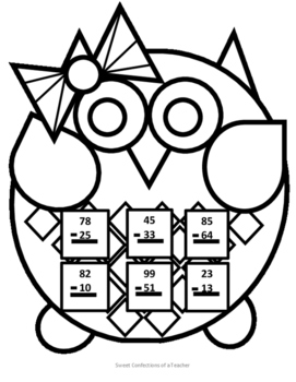 Female Owl Subtraction with No Regrouping