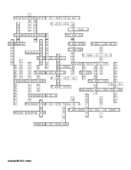 Female Reproductive System Crossword
