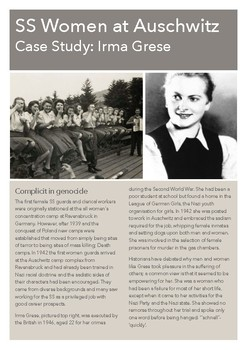 Female SS guards study guide