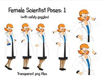 Female Scientist Poses: 1