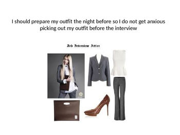 Female Social Story for Dressing for an Interview