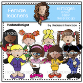 Female Teachers Clip Art Set