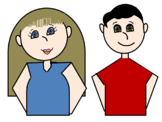 Female and Male clip art