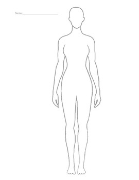 Female body silhouette