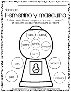 Femenino y Masculino (Only in Spanish)