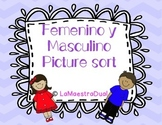 Femenino y Masculino Picture Sort