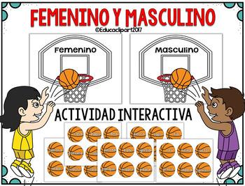 Femenino y Masculino - juego interactivo
