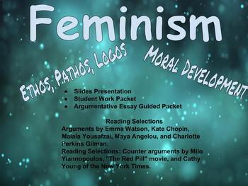 Feminism and Argumentative Essay Comprehensive Unit (BUNDLE)