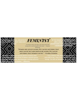 Feminist Bookmark for Themes or Characters Exploring Feminism