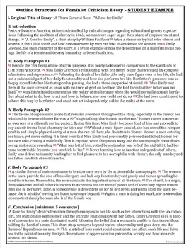 Example Essay English Feminist Criticism Essay Outline Essay On Cow In English also English Model Essays Feminist Criticism Essay Outline By Neu Teaching Products  Tpt English Essay On Terrorism