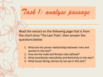 Feminist Literary Criticism Powerpoint lesson + 2 activities