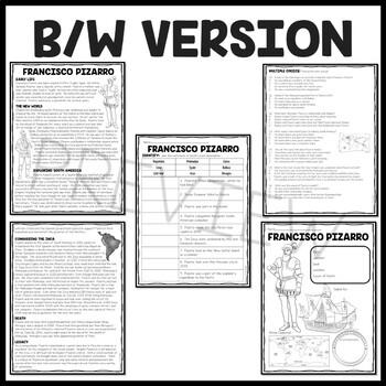 Francisco Pizarro Biography Reading Comprehension; Exploration, Inca