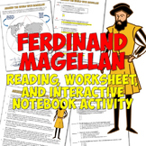 Ferdinand Magellan Reading, Worksheet, and Interactive Notebook Activity